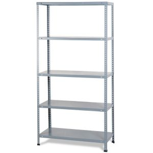 Bolted metal kit shelving