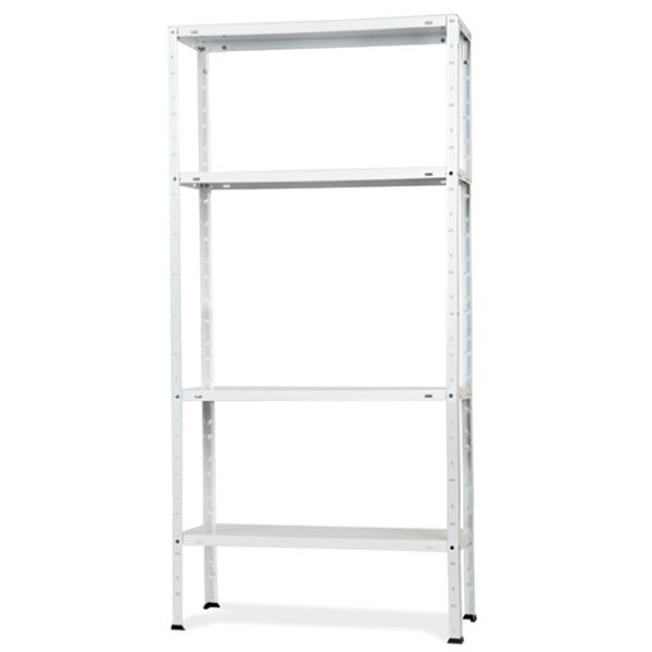 Variant bolted metallic shelving