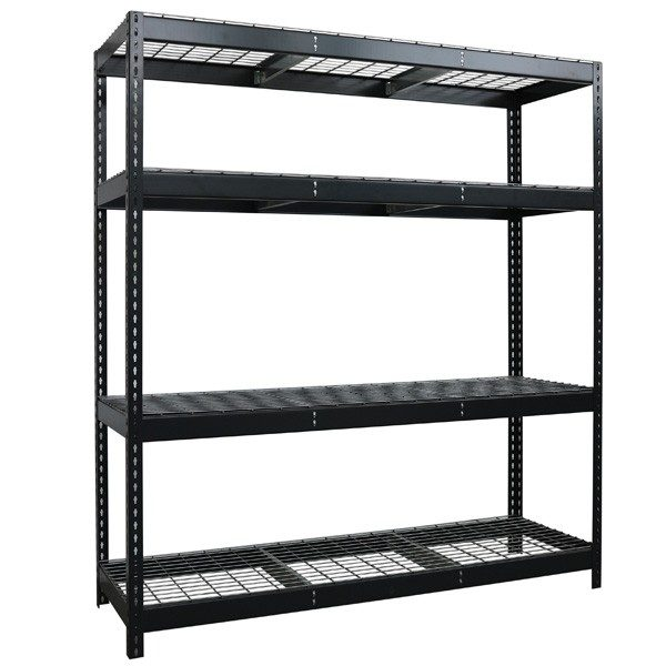 Wire stocker shelving grey