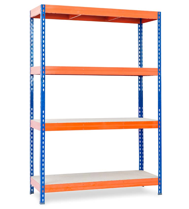 Stabil Classic shelving 180x120x50 orange and blue