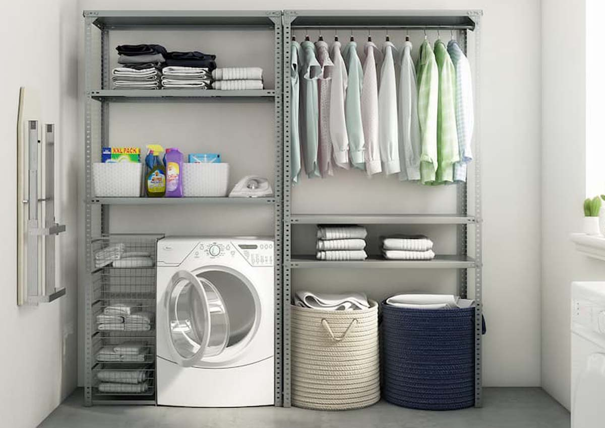 laundry bolted shelving