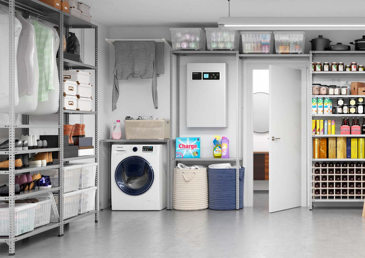 metal shelving for garage and laundry